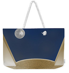 Weekender Tote Bag featuring the photograph Moon Roof by Paul Wear