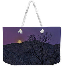 Moon Set At Sunrise Weekender Tote Bag