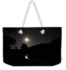 Moon Set Over Palm Valley 2 Weekender Tote Bag by Paul Svensen