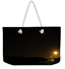 Moon Set Over Palm Valley Weekender Tote Bag