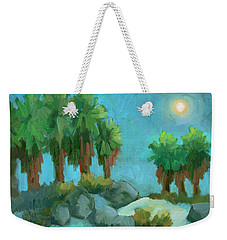 Weekender Tote Bag featuring the painting Moon Shadows Indian Canyon by Diane McClary
