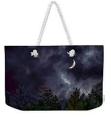 Moon Shine Over The Okanagan Weekender Tote Bag