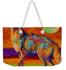 Moon Talk - Coyote Weekender Tote Bag