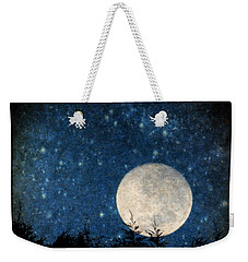 Moon, Tree And Stars Weekender Tote Bag