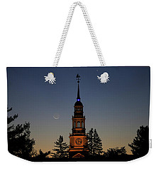 Moon, Venus, And Miller Tower Weekender Tote Bag