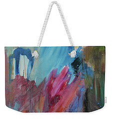 Weekender Tote Bag featuring the painting Moonchaser by Robin Maria Pedrero