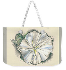 Moonflower Mixed Media Drawing Weekender Tote Bag