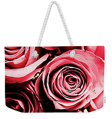 Weekender Tote Bag featuring the photograph Moonlight And Roses by Jessica Manelis