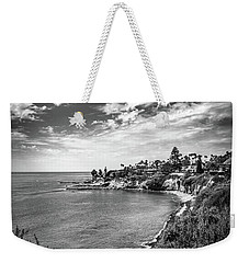 Weekender Tote Bag featuring the photograph Moonlight Cove Overlook by T Brian Jones