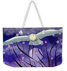 Weekender Tote Bag featuring the digital art Moonlight Hunt by Iowan Stone-Flowers