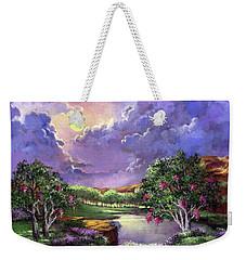 Moonlight In The Woods Weekender Tote Bag
