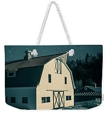 Weekender Tote Bag featuring the photograph Moonlight In Vermont by Edward Fielding