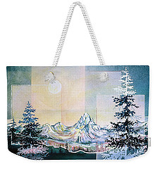Moonlight Mountain Weekender Tote Bag