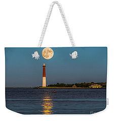 Moonlight Over Barnegat Lighthouse Weekender Tote Bag
