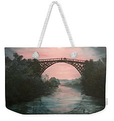 Moonlight Over Ironbridge Weekender Tote Bag