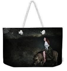 Moonlight Ride Weekender Tote Bag