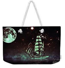 Moonlight Sailing Weekender Tote Bag