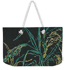 Weekender Tote Bag featuring the mixed media Moonlight Wheat by Vicki  Housel