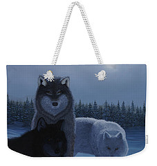 Moonlight Wolves Weekender Tote Bag by Stanza Widen