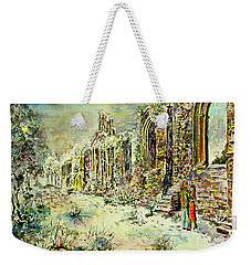 Moonlit Footsteps On Holy Ground Weekender Tote Bag by Alfred Motzer
