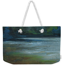 Weekender Tote Bag featuring the painting Moonlit Inlet by Jani Freimann