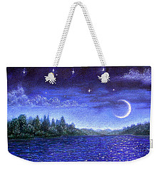 Moonlit Lake Weekender Tote Bag