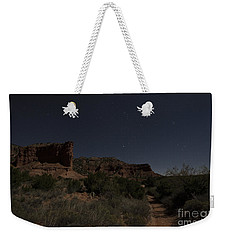 Weekender Tote Bag featuring the photograph Moonlit Path by Melany Sarafis