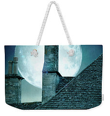 Moonlit Rooftops And Window Light  Weekender Tote Bag