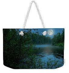 Weekender Tote Bag featuring the photograph Moonlit by Rose-Marie Karlsen