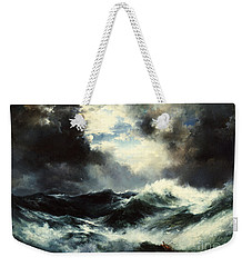 Moonlit Shipwreck At Sea Weekender Tote Bag