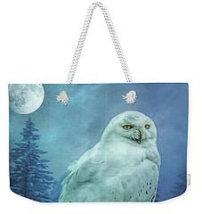 Moonlit Snowy Owl Weekender Tote Bag
