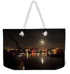 Moonlit Waterfront Weekender Tote Bag
