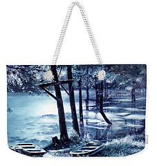 Moonlite On Village Creek Weekender Tote Bag