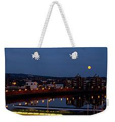 Moonrise In Belfast Weekender Tote Bag
