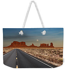 Moonrise Over Monument Valley Weekender Tote Bag