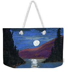 Moonrise Over Strait Weekender Tote Bag