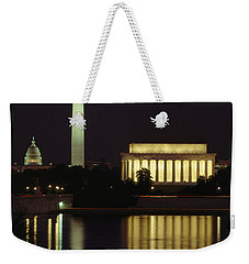 Moonrise Over The Lincoln Memorial Weekender Tote Bag