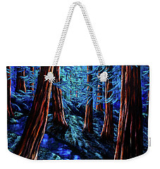 Moonrise Over The Los Altos Redwood Grove Weekender Tote Bag by Laura Iverson
