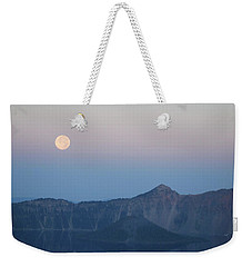Moonset At Crater Lake Weekender Tote Bag