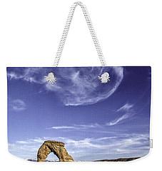 Moonset Delicate Arch Weekender Tote Bag