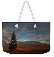 Moonset  In A Large Morning Sky Weekender Tote Bag