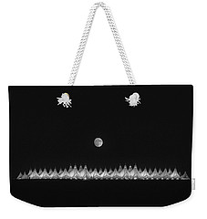 Moonset Over Dia Weekender Tote Bag