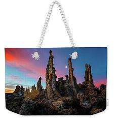 Moonset Over Mono Lake Weekender Tote Bag