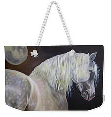 Weekender Tote Bag featuring the painting Moonshadow by Phyllis Beiser