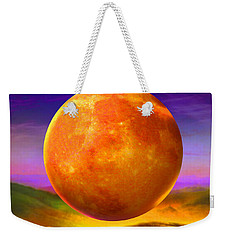 Weekender Tote Bag featuring the painting Moonshine Forever by Robin Moline
