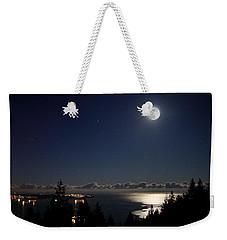 Moonshine Over English Bay Weekender Tote Bag