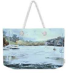 Moored At Mylor Bridge Weekender Tote Bag