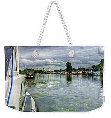 Moored At The Marina Weekender Tote Bag