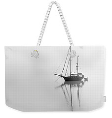 Moored On A Foggy Day Weekender Tote Bag
