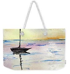 Moored Sailboat Weekender Tote Bag